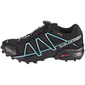 Salomon Speedcross 4 GTX Shoes Women Black/Black/Metallic Bubble Blue